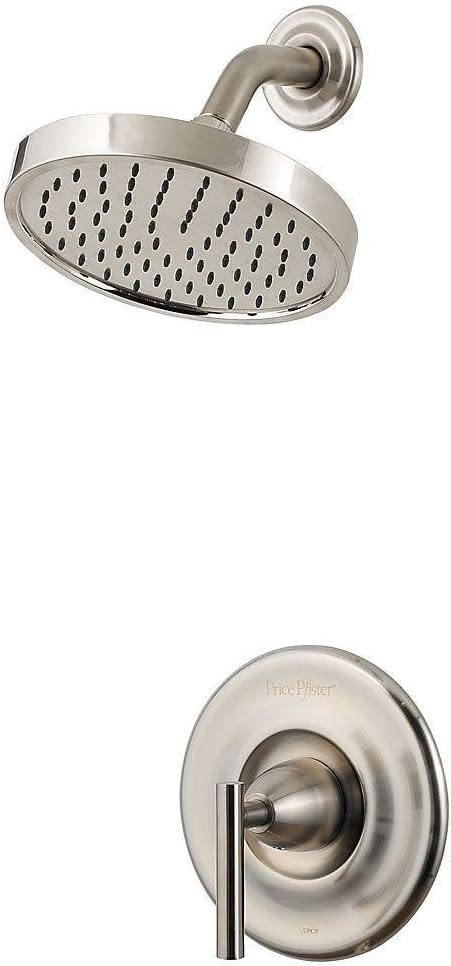 Pfister R89-7NK1 R89-7NK1 Contempra 1-Handle Shower Trim with Rain Can Showerhead, Brushed Nickel