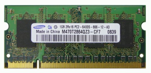 Samsung 1GB 200-Pin DDR2 800 PC2-6400 SODIMM CL6 Laptop Memory - NEW