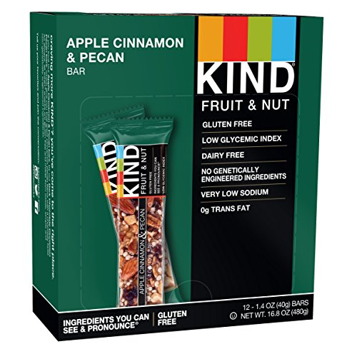 KIND Bars, Apple Cinnamon & Pecan, Gluten Free, 1.4 Ounce Bars, 12 Count