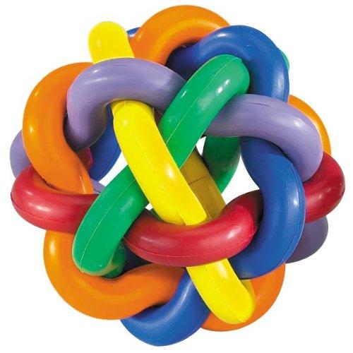 Multi Pet Nobbly Wobbly Dog Rubber Ball-Medium ()