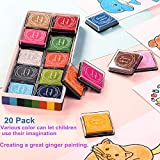Finger Washable Ink Pads for Kids, Non-Toxic, 20