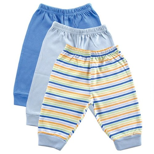 3-Pack Baby Pants, Blue, 24 Months