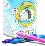 NOYO 36 Colors Gel Crayons for Toddlers and Kids | Non Toxic | 3 in 1 Washable Bolder Crayons-Pastel-Watercolor Paint Effects