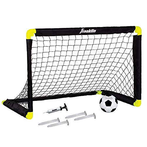 Soccer Ball Net - Franklin Sports Mini Soccer Goal - 36 x 24 Inch - Includes Size 1 Soccer Ball and Ball Pump