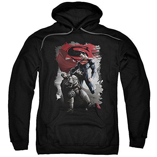 Trevco Men's Batman Vs. Superman Choke Hoodie Sweatshirt at Gotham City Store