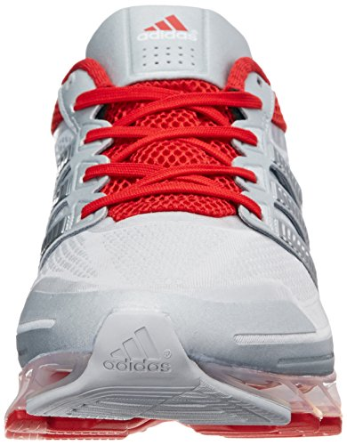 Adidas Springblade las zapatillas de running, Azul Solar / plata / negro, 7 con nosotros Silver / Metallic Silver / Light Scarlet