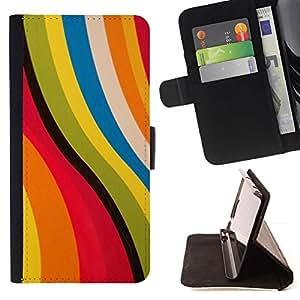 Momo Phone Case / Flip Funda de Cuero Case Cover - Rosa abstracto amarillo colores en colores pastel - HTC One M7