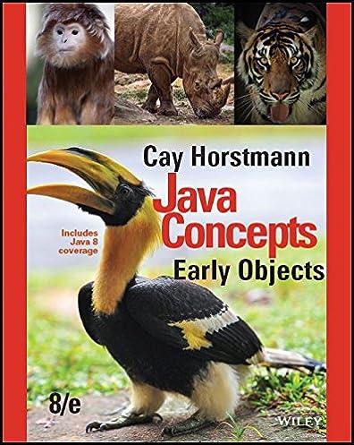 java concepts early objects 8th edition 8 cay s horstmann ebook rh amazon com Horstmann Wiley Big Java 3rd Edition