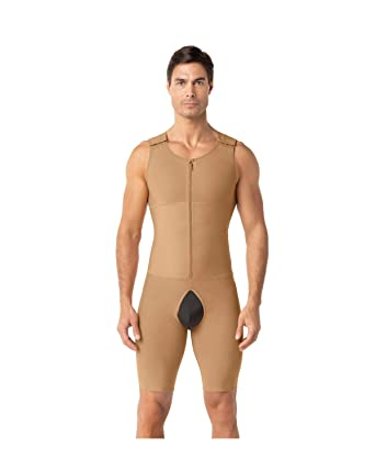 febbad73dc65f Amazon.com  Leo Men s Post-Surgical and Slimming Firm Compression Bodysuit  Shaper  Clothing