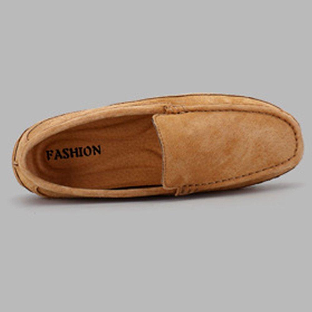 Hommes Mocassins de Conduite Manuel Travail Manuel 19999 Suture Hommes  Suede Mocassins en Cuir Véritable Bateau Chaussures,Chaussures de Cricket  Brown ... 0bfff57e5410