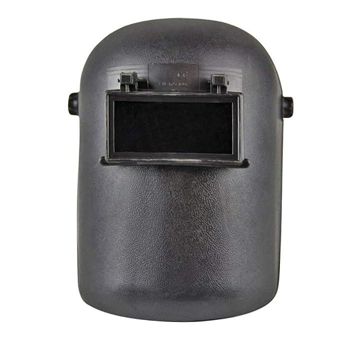 Casco de soldadura con cabeza, máscara de soldadura ajustable con gafas de ojos resistentes a los rayos UV, protege los soldadores de la cara lesiones ...
