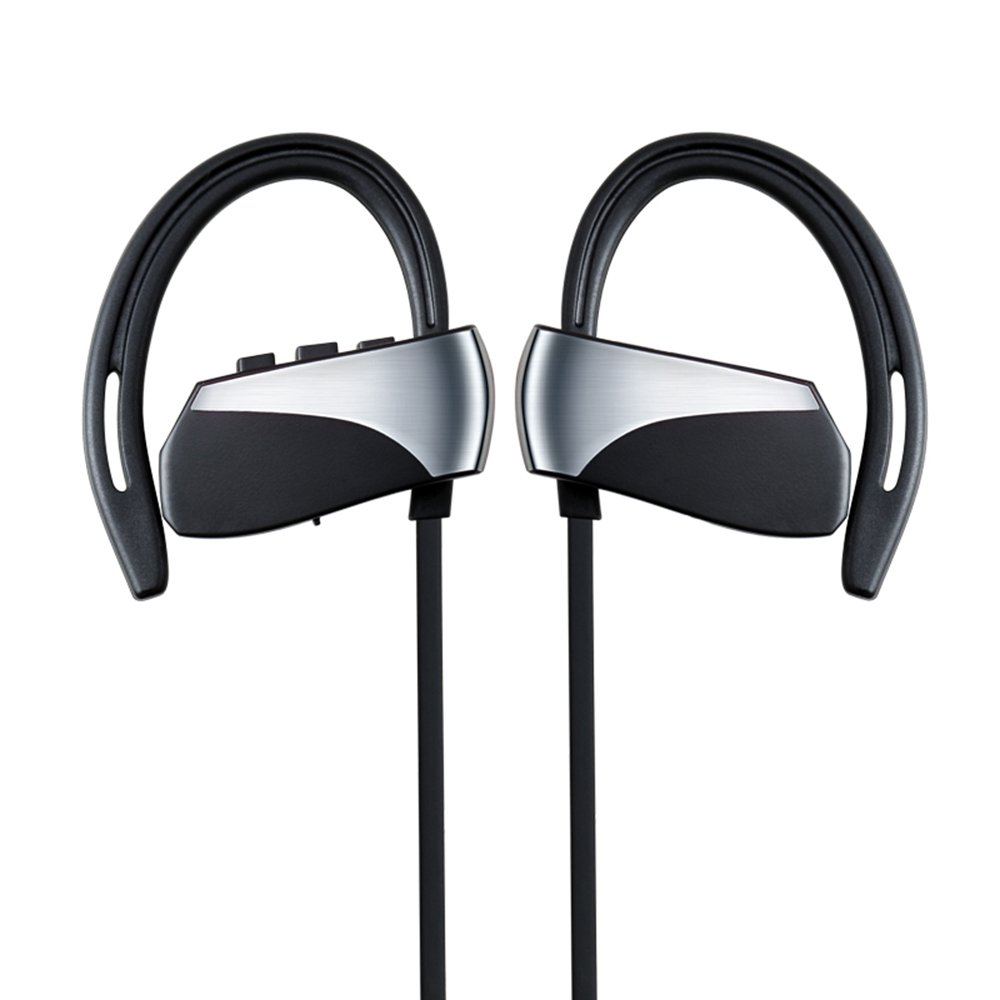 4a33e7368e2 Plufy Bluetooth Headphones, Best Wireless Sports Earphones with Mic  Waterproof HD Stereo Sweatproof Earbuds for Gym Running Workout 16 Hour  Battery Noise ...