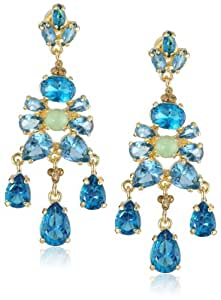 """Carolee """"Cerulean Skies"""" Stone Chandelier Earrings"""