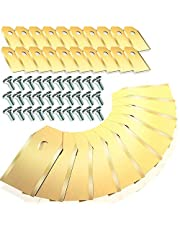 Homealexa Reservemes voor Husqvarna Automower Gardena Yard Force voor robotmaaier, 30 stuks titanium messen en schroeven