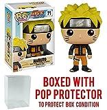 Funko Pop! Anime: Naruto Shippuden - Naruto #71 Vinyl Figure (Bundled with Pop BOX PROTECTOR CASE)