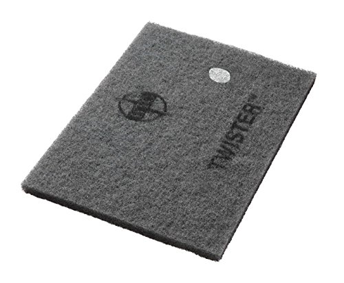 Twister Diamond Cleaning System 14'' x 28'' White Floor Pad - 800 Grit - 2 per case by Americo