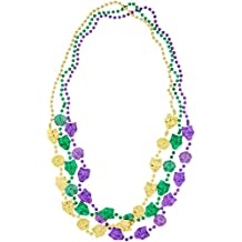 Beistle 50562 3-Pack Mardi Gras Mask Beads, 48-Inch