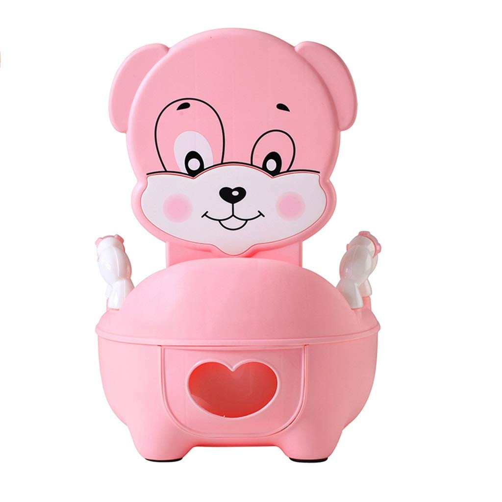 XWJC Drawer Type Young Children Toilet Baby Girl Baby Potty Urinal Child Toilet Toilet Cute Dog Shape 0-6 Years Old (Color : Pink)
