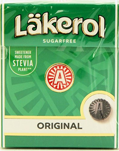 12-Pack Lakerol Original Herb Menthol Licorice Sugar Free Pastilles Stevia Candy 0.88-ounce Packages