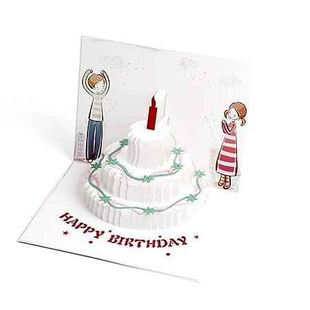 Tarjeta de felicitación de cumpleaños 3D con sobres para ...