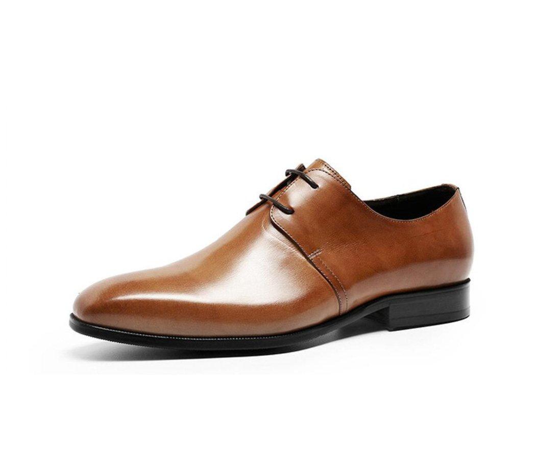 GDXH Herren Leder Brautschuhe Lace Up Brogues Formelle Kleid Schuhe Formale Schuhe