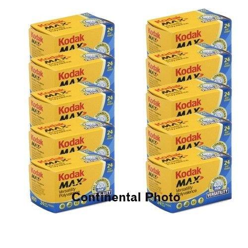 - 10 Rolls Kodak GC 135-24 Max 400 Color Print 35mm Film ISO 400 (Pack of 10)