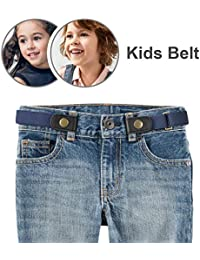 No Buckle Stretch Belt for Child Boys/Girls Buckle Free Kids Belt Up to 24""