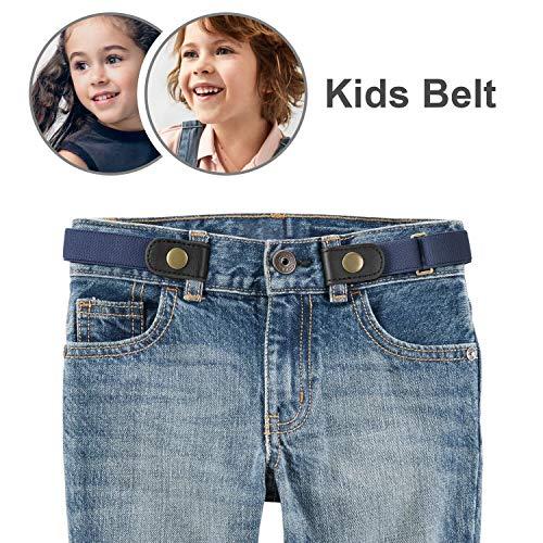 No Buckle Stretch Belt for Child Boys/Girls Buckle Free Kids Belt Buckleless for Pants Jeans -