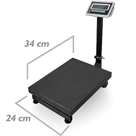 PrimeMatik - Balanza industrial de plataforma 24x34 cm báscula 60 Kg: Amazon.es: Electrónica