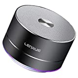 Lenrue Portable Bluetooth Speaker A2 Wireless Mini Outdoor Rechargeable Speakers with LED, Stereo Sound, Enhanced Bass,Built-in Mic for iPhone/IPad/Andriod/Sansung/Tablet (Gray)
