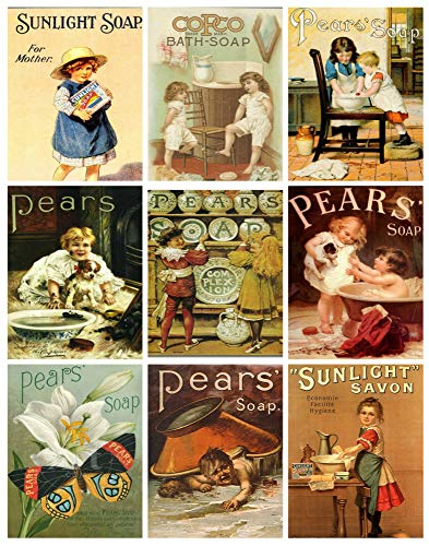 - Vintage Pear's Soap Ads Collage Sheet #103 for Scrapbooking, ATC Cards, Altered Art Scrapbooking, Decoupage, Labels, Gift Tags
