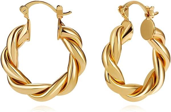 Earrings Everyday Hoop Earrings Silver Hoops Stacking Hoop Earrings Gift for Her Thick Hoop Earrings Gift Hoops for Her Gold Hoops
