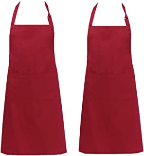 Unisex Cooking Aprons Chef Apron,Black Professional Chef Kichen Apron with Pockets for Baking,Grilling and Bar BQ Restaurant,Mother's Day,Chrismas Gift (Chef Apron)