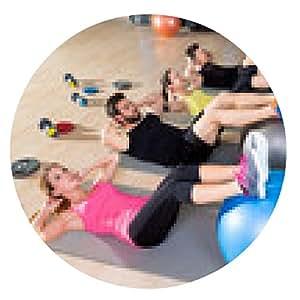 alfombrilla de ratón Fitball formación contracción del núcleo de grupo de fitness en el gimnasio - ronda - 20cm