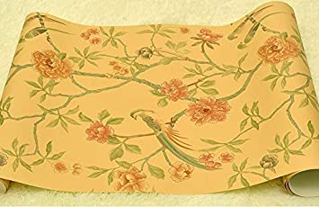 Beibehang Birds Trees Flowers Chinoiserie Wallpaper Rolls Tree Blossom Statement 3D Wall Paper Roll For