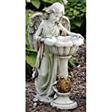 23'' Girl Angel with Solar Birdbath