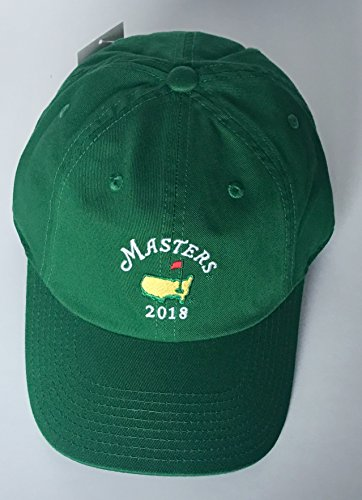 (2018 Masters golf hat green Augusta National caddy style with year new)