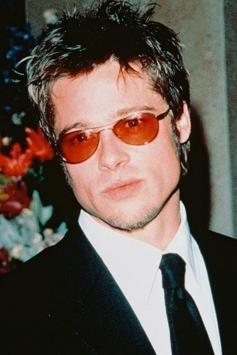 4cd91a8b15 Brad Pitt 24x36 Poster 1990 s Pose in Red Sunglasses at Amazon s  Entertainment Collectibles Store