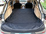 SUV Cargo Liner, Cargo Cover For SUVs Cars, Waterproof Non Slip Backing Extra Bumper Flap Protector by MixMart -Black