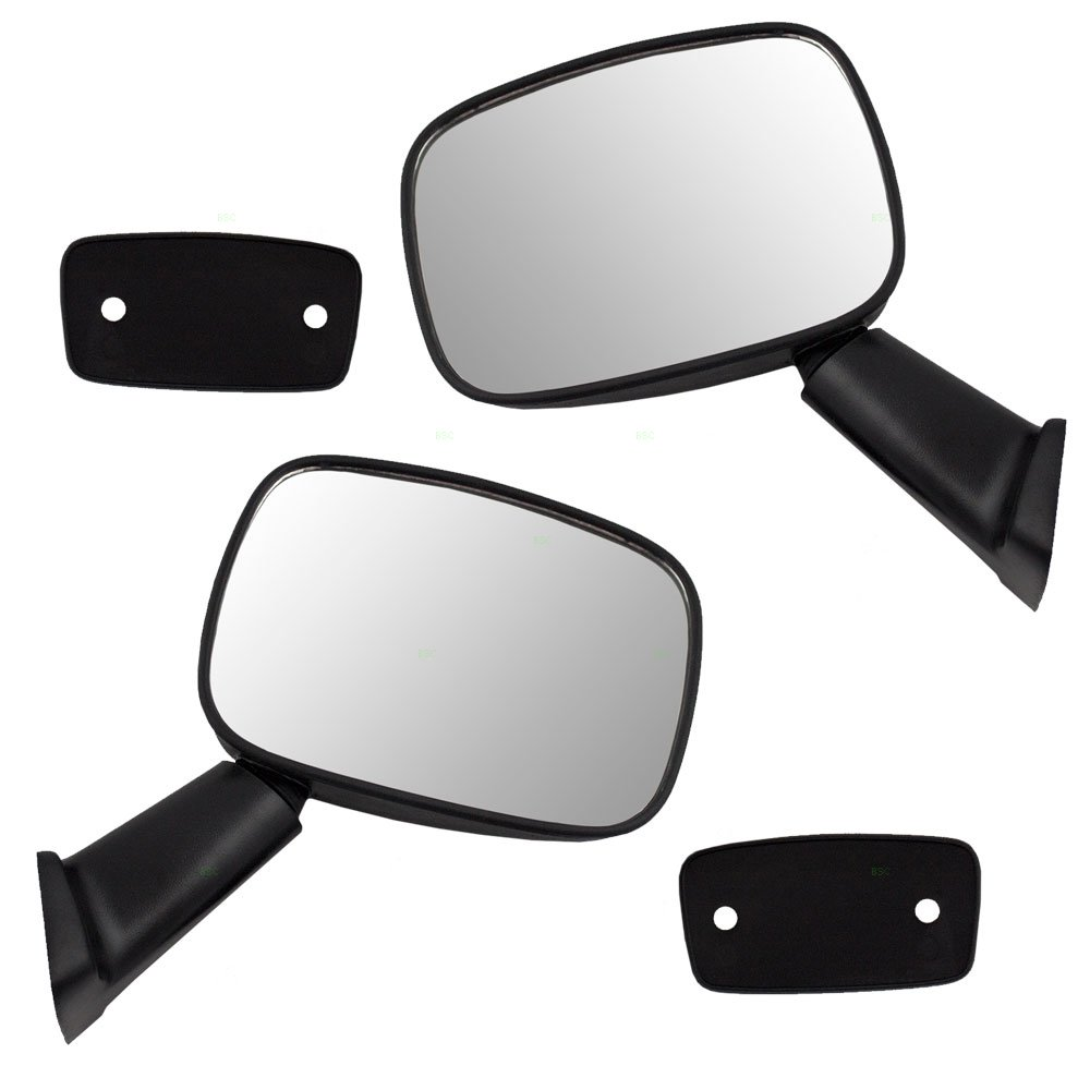 Driver and Passenger Manual Side View Mirror Textured Replacement for Toyota 4Runner Pickup Truck 8794089118 8791089121 AUTOANDART