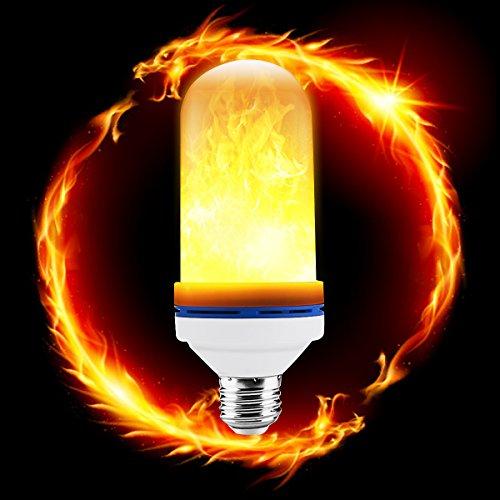 D-FLIFE LED Flame Light, Flickering Fire Effective Bulb E27/E26 Socket| 2835 LED Beads Simulated Decorative Light Atmosphere Lighting Vintage Flaming Light Bulb for Home, Bar, Christmas Decoration Use