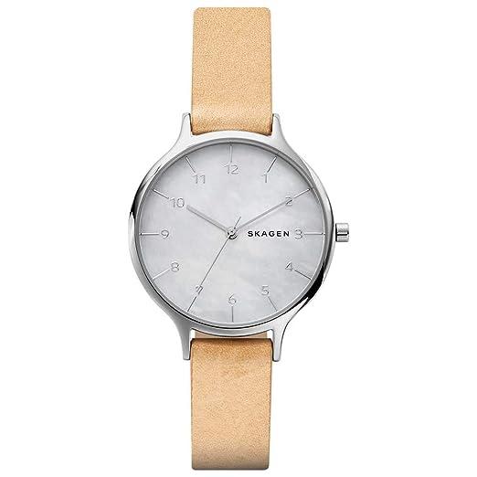 Skagen Reloj Analógico para Mujer de Cuarzo con Correa en Cuero SKW2634: Amazon.es: Relojes