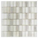 Wallandtile Carrara White Stepper Hammered Mosaic Tile