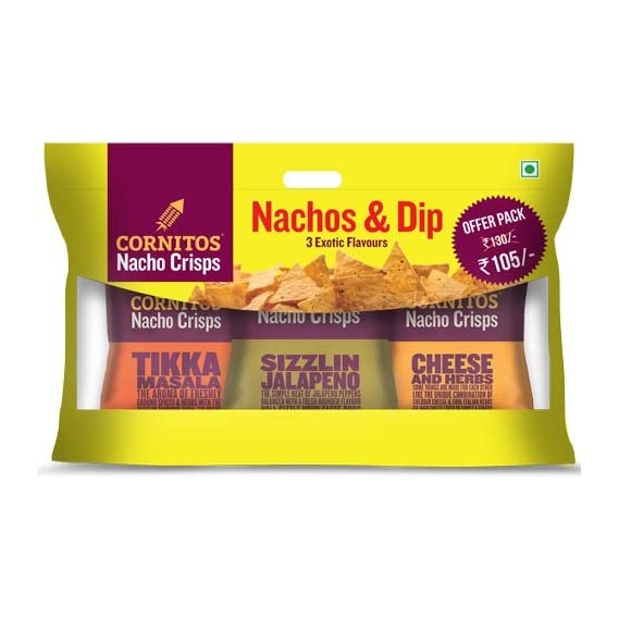 Cornitos Nachos with Salsa Combo Big, 230 g