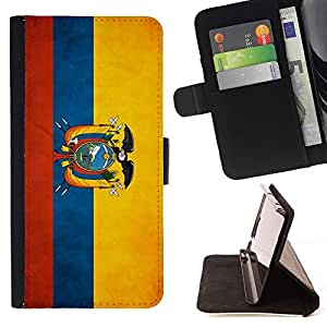 Momo Phone Case / Flip Funda de Cuero Case Cover - Nacional bandera de la nación País Ecuador; - Sony Xperia Z5 5.2 Inch (Not for Z5 Premium 5.5 Inch)