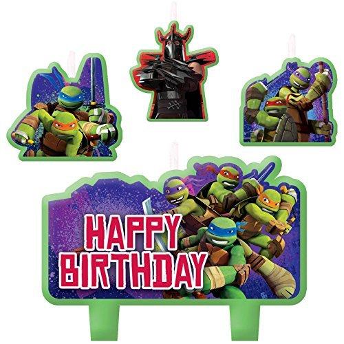 Amscan Teenage Mutant Ninja Turtles Candle Set (4pc),Green -