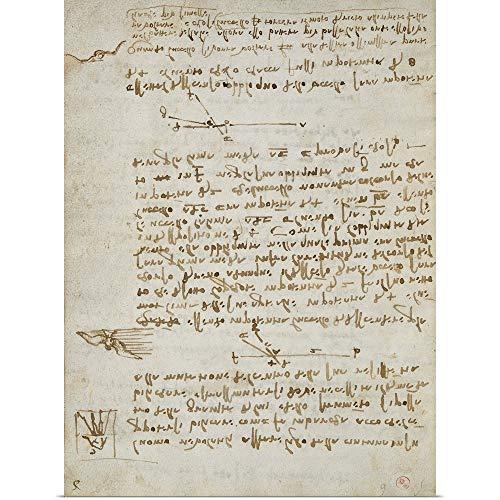 GREATBIGCANVAS Poster Print Entitled Codex on The Flight of Birds, by Leonardo da Vinci, 1505-1506. Royal Library, Turin by Leonardo da Vinci 23