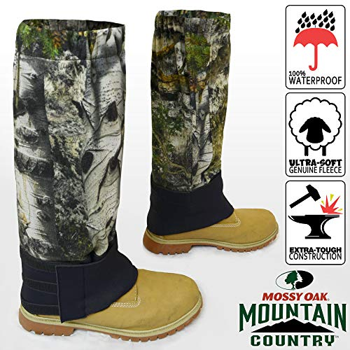 (Waterproof Camouflage Boot Gaiters (Mossy Oak Mountain Country))