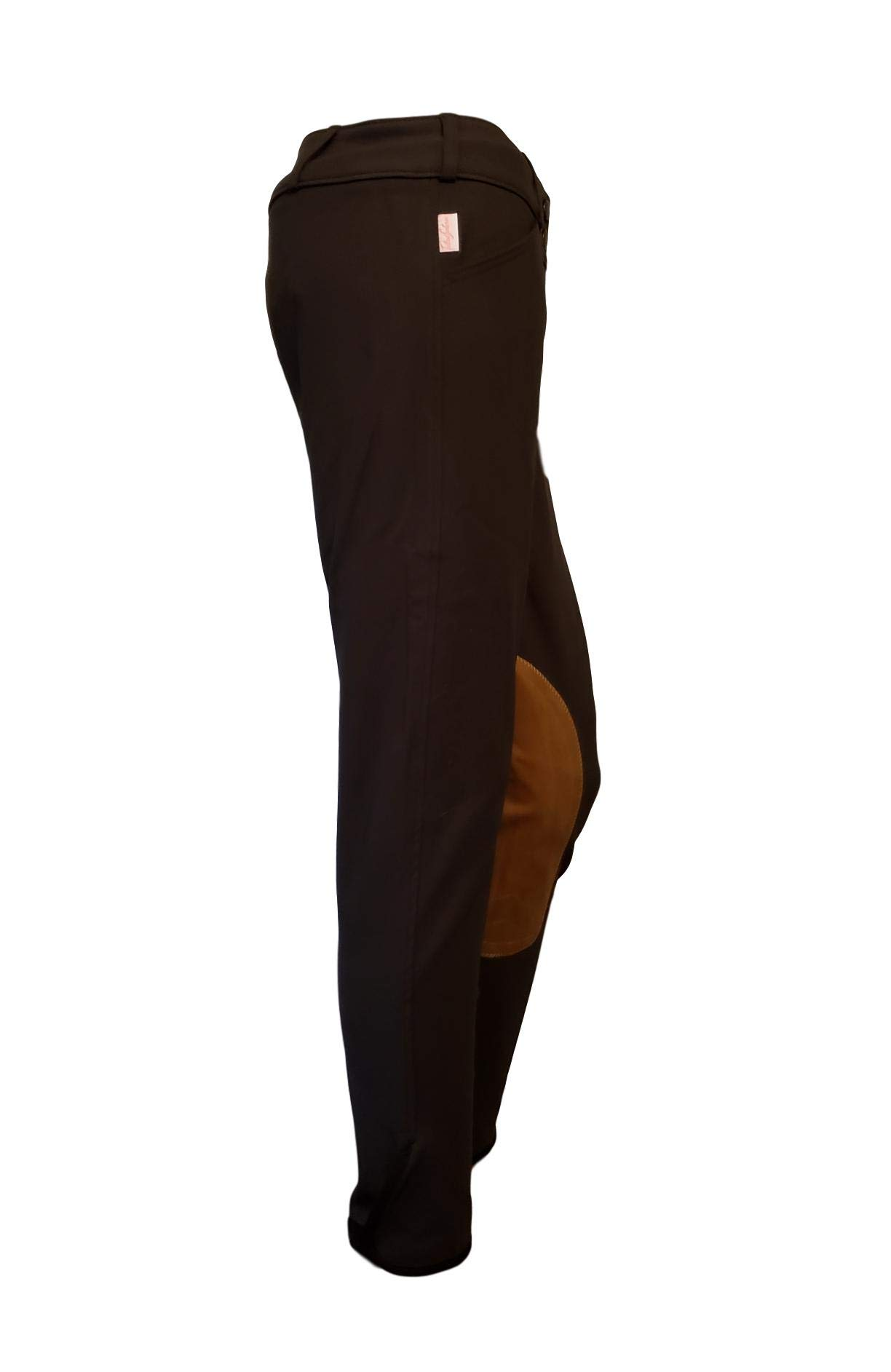 Tailored Sportsman Ladies Trophy Hunter Mid Rise Front Zip (Black Olive/Tan Patch, 32R)