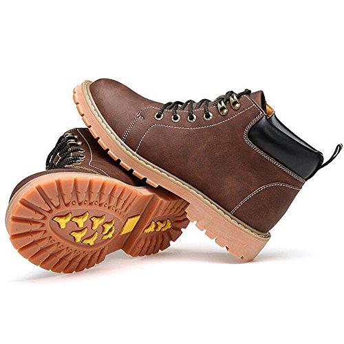 Herren freizeitschuhe kleid bergsteigen herbst outdoor [leise unten] stiefel rutschen schwarzbraun-B Fußlänge=43EU